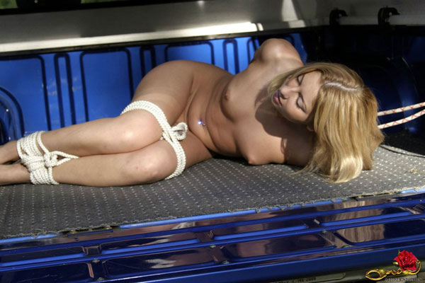 Theme, Sexy women tied up in a truck have removed