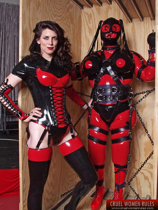 Male bondage rubber slave